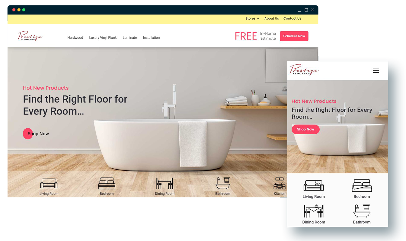 Case Study: Website Design for Prestige Flooring