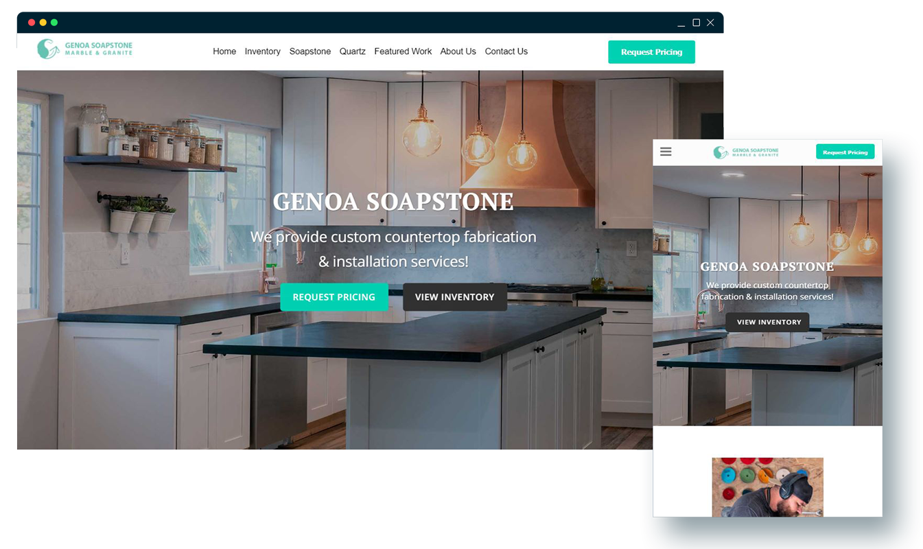 case study: soapstone countertop website.
