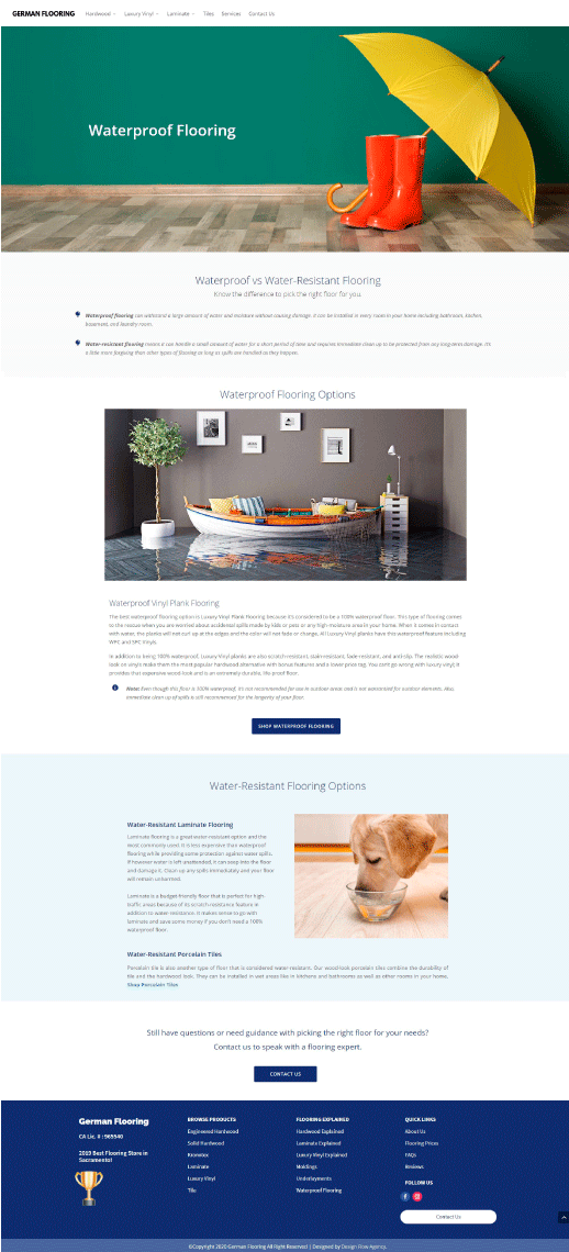 Case study: creating engaging content for a flooring business.
