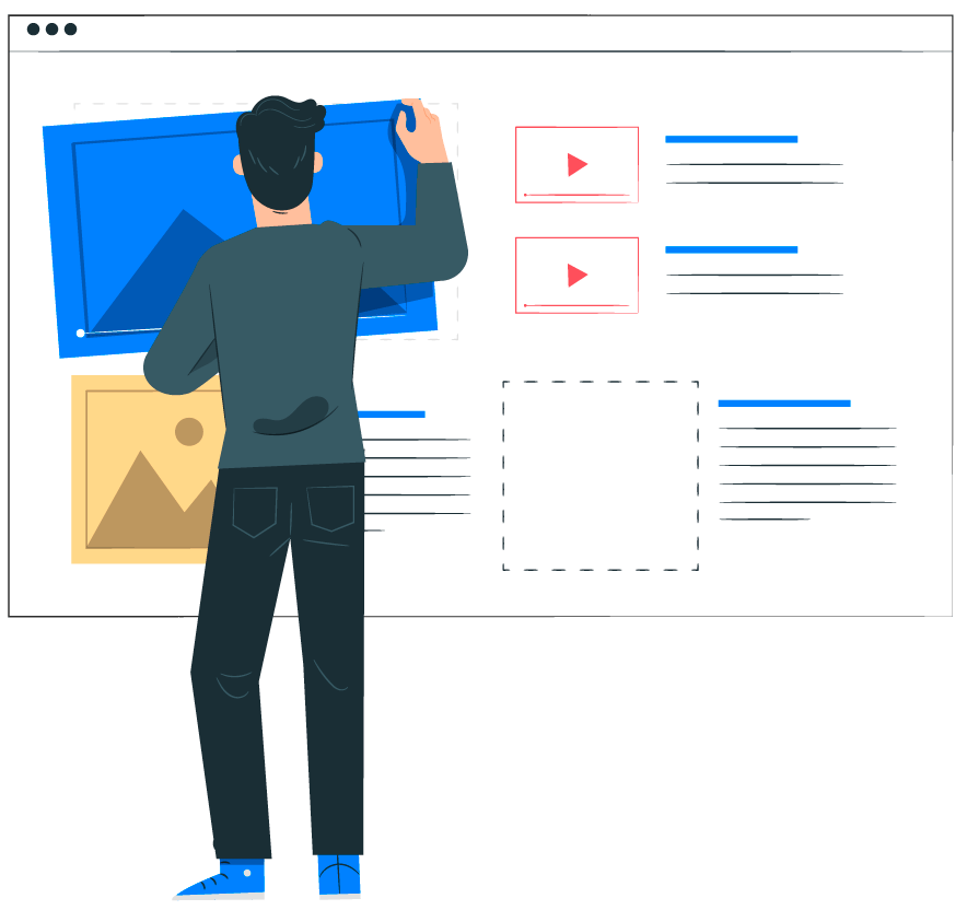 Website layout and wireframe process.